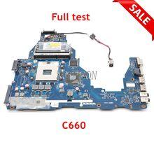 NOKOTION Laptop anakart Toshiba uydu C660 K000124370 PWWHA LA 7202P HM65 DDR3 GMA HD3000 ana kartı tam test