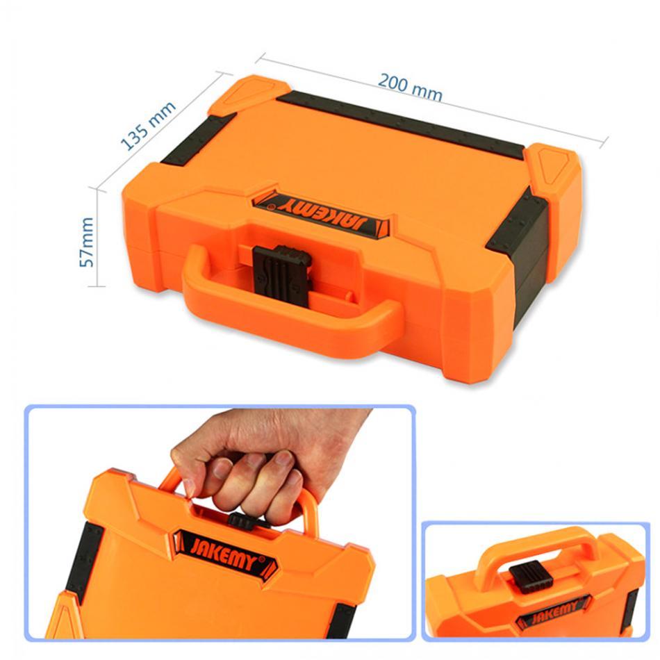 """""""JAKEMY 45 in 1"""" išmontuojantis taisymo įrankis, kelių bitų - Įrankių komplektai - Nuotrauka 4"""