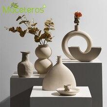 New Nordic Simple Creative Ceramic Flower Arrangement Vase Art Dried Flower Flower Green Plant Potted Gardening Home Decoration