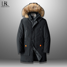 Clothing Parkas Down-Jacket Plus-Size Winter Men's Brand New Warm Thick Stylish Hat Apparel
