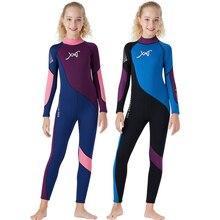 Костюм для серфинга для девочек гидрокостюм 2,5 мм CR неопрен растягиваемая в 4 направлениях для триатлона длинные купальный костюм; купальник spearfishing водолазный костюм всего тела