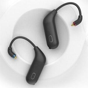 Image 2 - Para fiio utws1 mmcx adaptador de fone ouvido bluetooth conversor porto verdadeiro sem fio fones ouvido gancho dinâmico & armadura