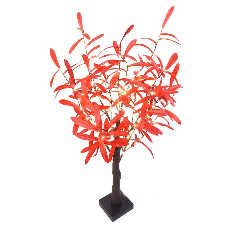 100L светодиодный светильник в виде дерева бонсай, сказочные искусственные ветви, листья оливковой формы для стола, домашнего сада, Рождественского украшения