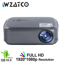WZATCO CT58 Volle HD 1920*1080P Suport AC3 4K Online Video Android 10 Wifi Smart Video LED projektor Proyector Für Heimkino