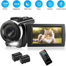 Video Camera Camcorder with 32GB Card Full HD 1080P 30FPS Digital Camera Vlogging Camera for YouTube 3.0 Inch LCD 270 Degree IPS