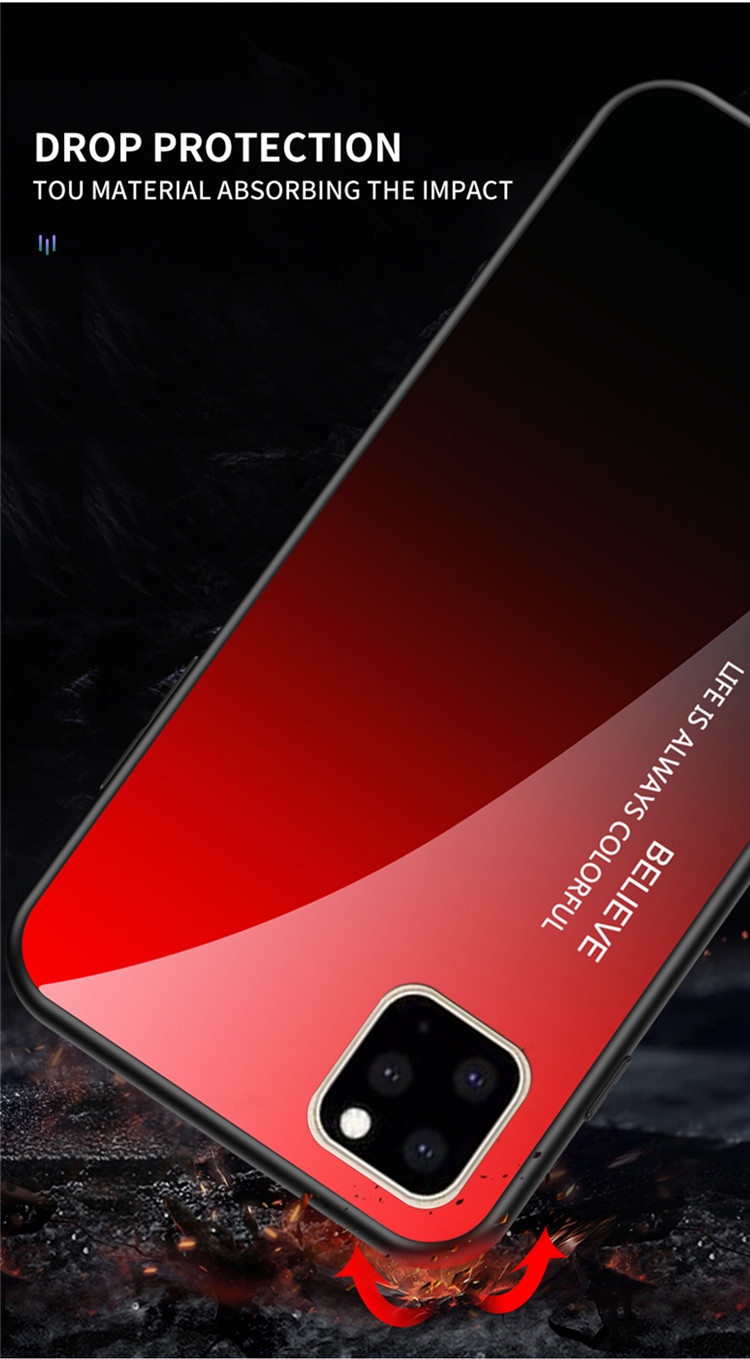 Ollyden Gradient Tempered Glass Cases for iPhone 11/11 Pro/11 Pro Max 9