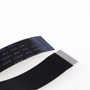 2 шт. Гибкий плоский кабель FPC FFC 15 PIN 1,0 мм обратная длина 80 150 200 300 400 500 600 1000 2000 мм черный для raspberry pi