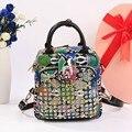 Модная дверная ручка со стразами  женский рюкзак из искусственной кожи  Леопардовый дорожный рюкзак для ноутбука  разноцветные рюкзаки для ...