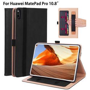 Luksusowe etui do Huawei Matepad Pro 10.8 MRX-W09 MRX-AL09 pokrywa Funda Tablet uchwyt na rękę stojak skórzane etui