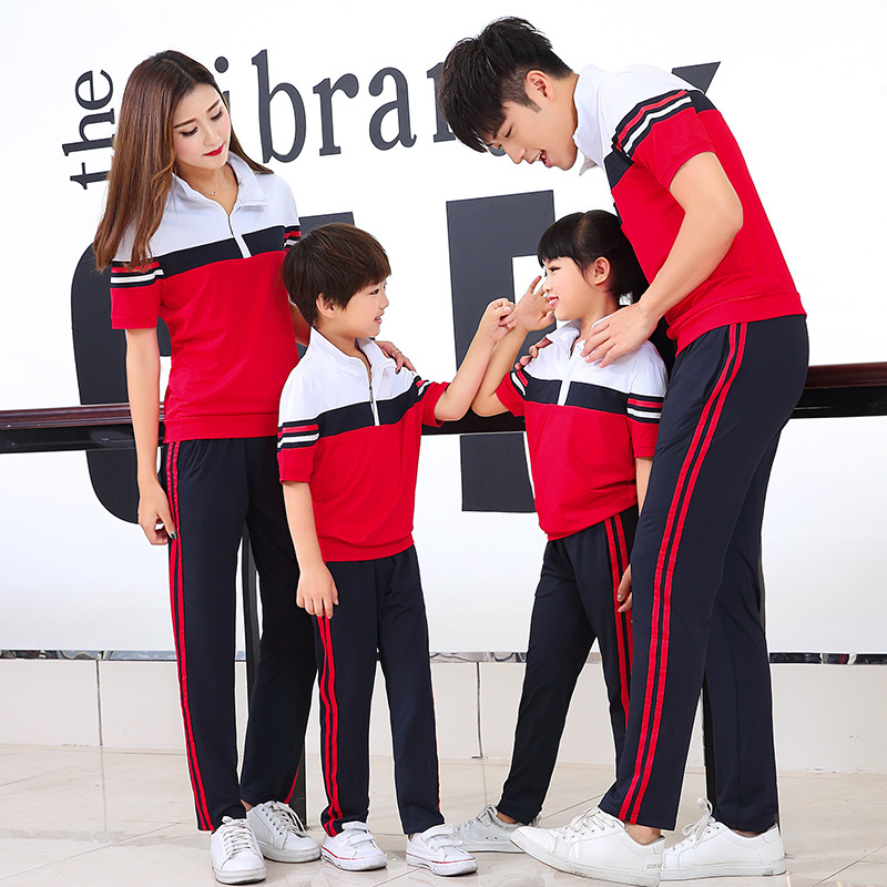 Summer Junior High School Young STUDENT'S High School Uniform Business Attire Group Clothes Couples Parent And Child Sports Set