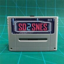 ใหม่ล่าสุดSD2SNES REV Xรุ่นPro DIY 1200 ใน 1 เกม 16 บิตสำหรับเกมคอนโซล