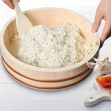Japonês de madeira sushi arroz balde coreano mistura arroz balde balde balde recipiente de madeira para restaurante cozinha acessórios