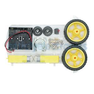Image 3 - Nuovo per Evitare di inseguimento Motore Intelligente Robot Auto Telaio Kit di Velocità Encoder Battery Box 2WD modulo Ad Ultrasuoni Per Arduino kit