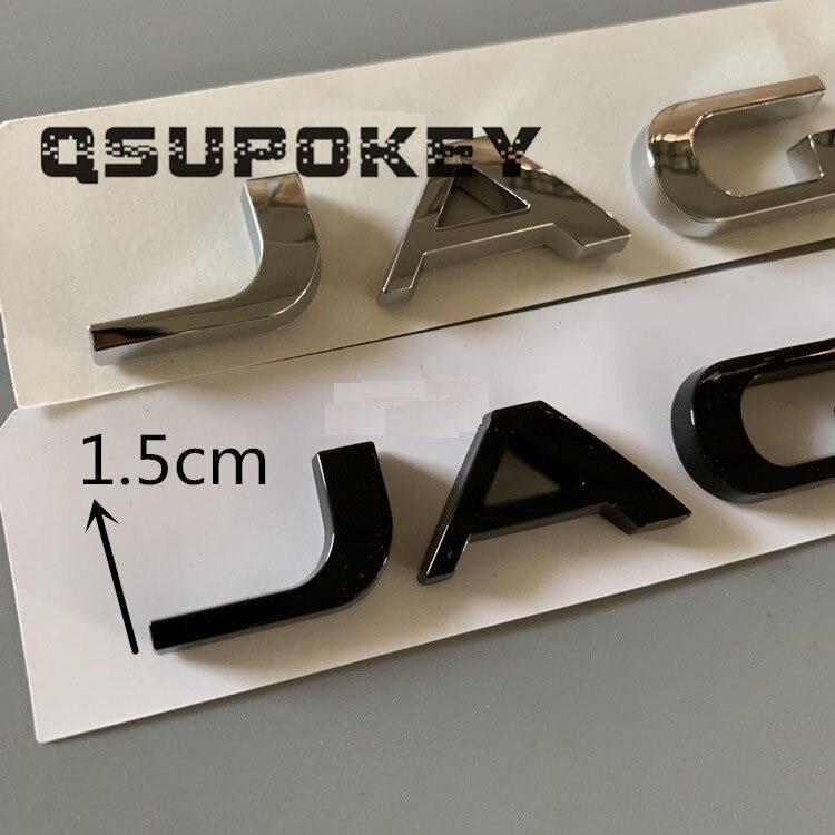 The New For Jaguar JAGUAR Car Standard Trunk  Tail Letter English Letter Mark XE XF XJL Logo