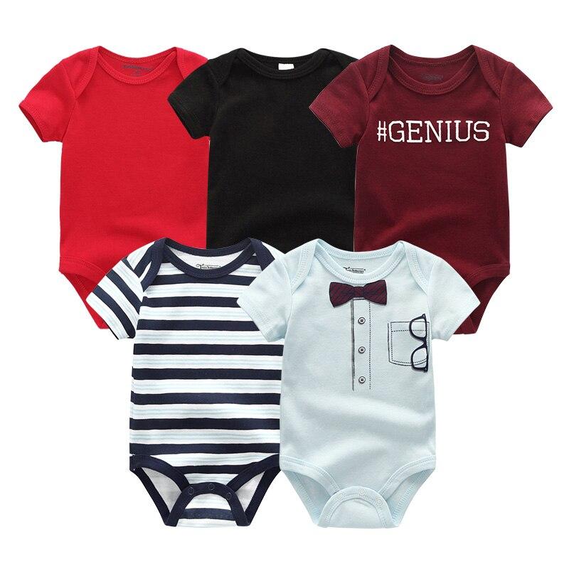 2021 5 шт./лот для маленьких мальчиков одежда с изображением единорога Одежда для девочек Боди для маленьких девочек, одежда для детей от 0 до 12 месяцев, Одежда для новорожденных 100% хлопок для мальчиков и девочек; Roupas de bebe 5