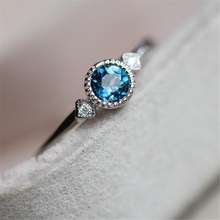 Fashion Crystal Zircon Ring For Women Accessories Jewelry Party Engagement Bridal Wedding Gift Simple