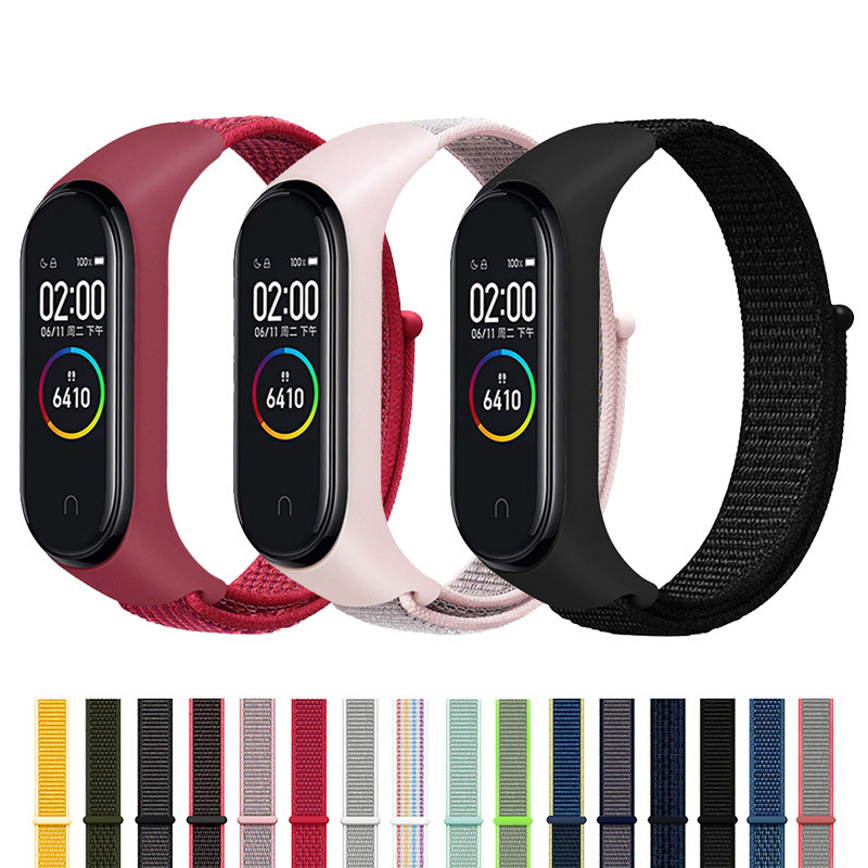 Nylon Strap For Xiaomi Mi Band 3/4 Strap Bracelet Mi Band4 Band3 Sports Wristband Breathable Bracelet For Xiomi Miband 3/4