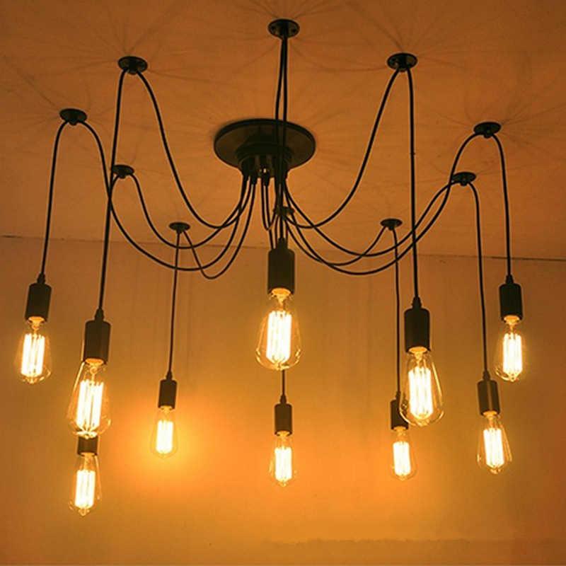 Pendentif lumières Lustres araignée suspension Luminaire Multiple réglable rétro lampe à main Abajur Luminaire éclairage Led maison E27
