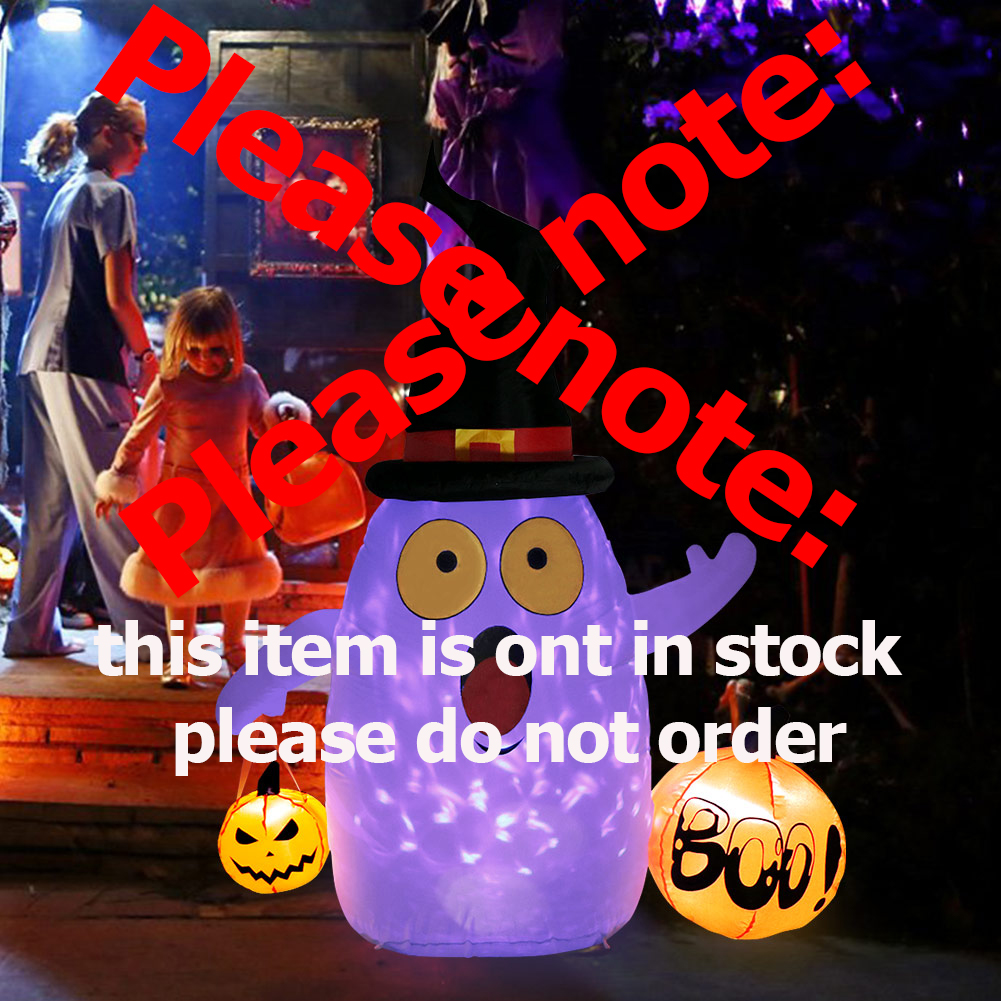 Image 4 - OurWarm Halloween Inflatable Pumpkin Outdoor Scary Decoration Halloween Party Inflatable Blow in Pumpkin Up Inflatable Witch-in Party DIY Decorations from Home & Garden