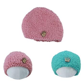 Clearance! 3pcs/Set Newborn Infant Hat  Boy Girl Bonnet Winter Baby Photo HandKnit Cap for Photography Accessories