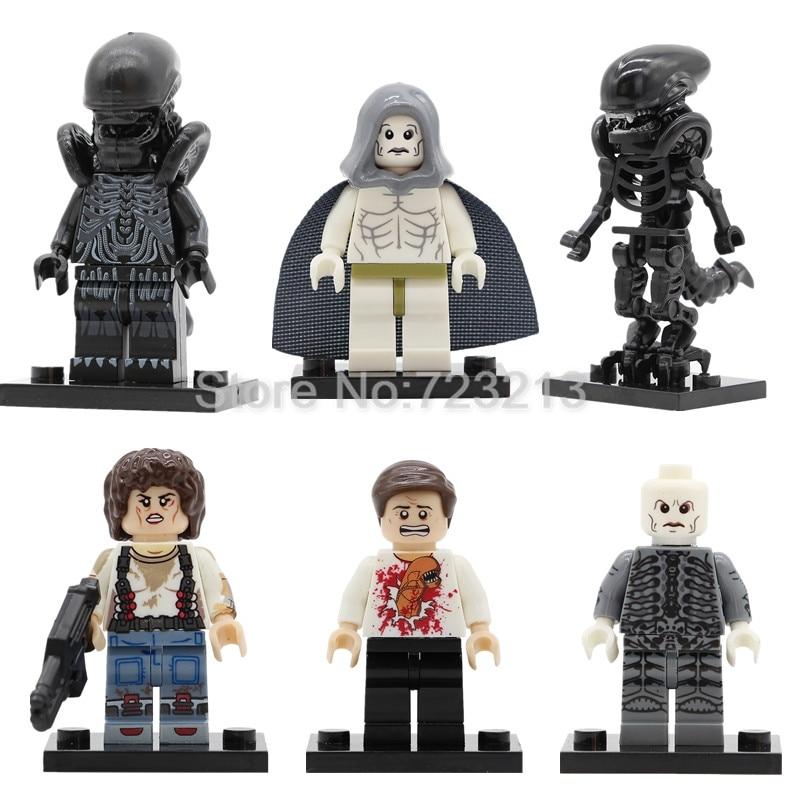 Single Sale Alien Figure Space Jockey Prometheus Ellen Ripley Parasite Building Blocks Movie Set Model Kits Bricks Toy Legoing-in Blocks from Toys & Hobbies