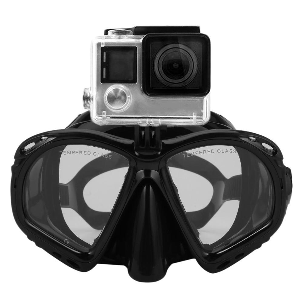 Professional Underwater Diving Mask Scuba Snorkel Swimming Goggles Scuba Diving Equipement Suitable For Most Sport Camera(China)