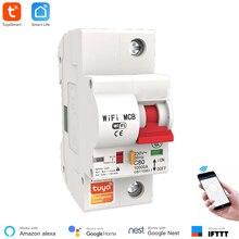 Умный автоматический выключатель Smart Life APP, 1P, 16 А ~ 12 А, Wi Fi, защита от перегрузки, короткого замыкания, голосовое управление, Alexa Google Home