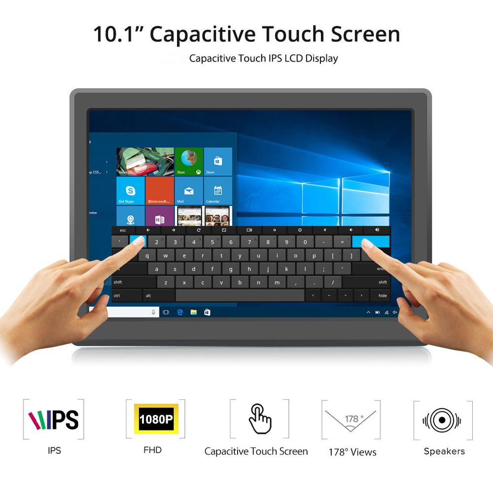 """Elecrow 10.1"""" 1920*1080 IPS Touchscreen Portable Monitor 10.1 Inch Capacitive Touch Screen Raspberry Pi Display Speakers Monitor"""