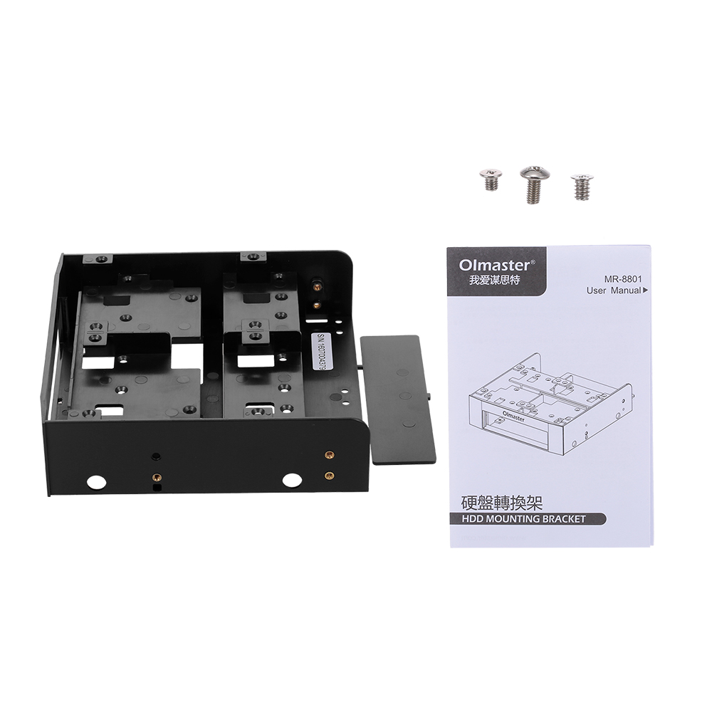 Olmaster MR-8801 Useful 2.5 Inch SSD HDD Mounting Bracket Fits For 3.5