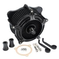 Turbine Spike Motorcycle Air Cleaner Intake Filter Kit For Harley Touring Road King Electra Glide Dyna Softail filtre a air moto