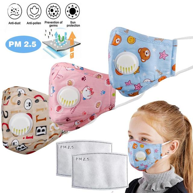 Adult Child Respirator Mask Prevent Saliva Droplets Transmission Droplet Infection Dust PM2.5 Anti-pollution Washable Reusable 2