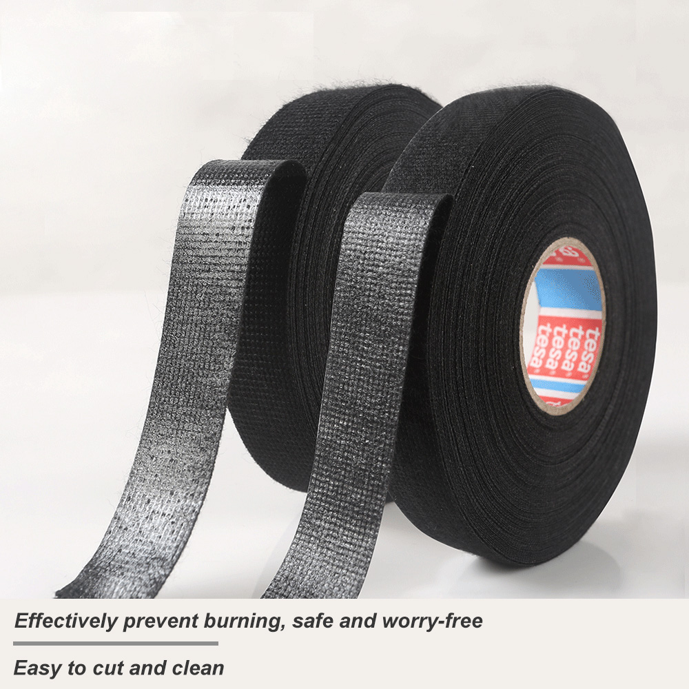 GH 15M Heat-resistant Wiring Harness Tape Looms Wiring Harness Cloth Fabric Flannel Tape Adhesive Cable Protection PK Tesa