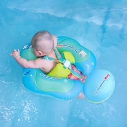 Nuevo anillo de baño de bebé inflable para infantes axilas flotantes para Niños Accesorios de piscina círculo bañador inflable doble anillos de balsa