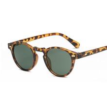 Classic Vintage Sunglasses Women Male Round Cat Eye Sunglasses Female Retro Style Leopard Small Frame Oculos De Sol