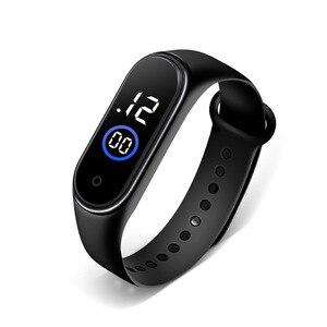 Цифровые часы для женщин и мужчин, цифровые светодиодные детские электронные спортивные часы, браслет для фитнеса, женские светодиодные часы