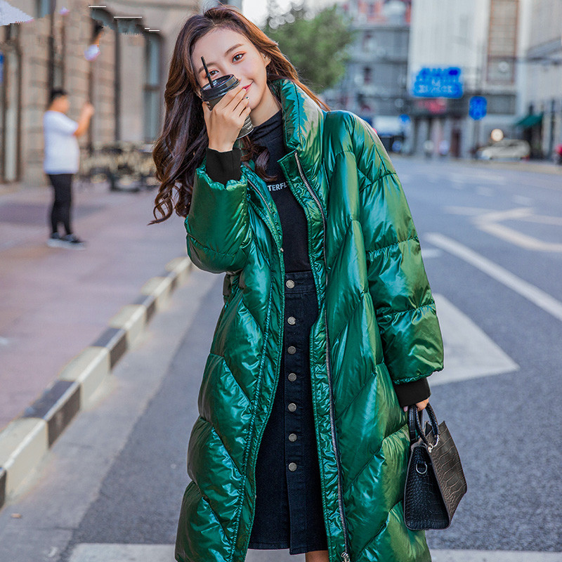 AYUSNUE Women's Winter Down Jacket Long White Duck Down Coat Women Korean Puffer Jacket Chaqueta Mujer 95749 YY1517
