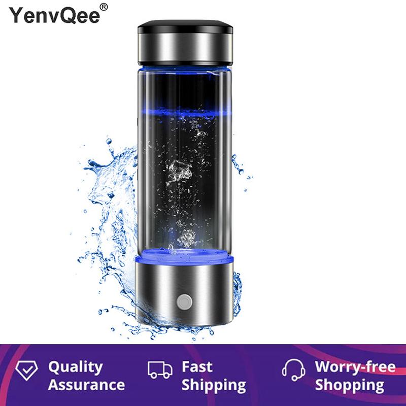 Hydrogen Generator Cup Water Filter 430ML Alkaline Maker Hydrogen Rich Water Portable Bottle Lonizer Pure H2 Electrolysis