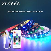 WS2812B taśma LED z 14 klawiszami RF bezprzewodowy zdalny zestaw sterowniczy indywidualnie adresowalne inteligentne listwy rgb LED wodoodporne