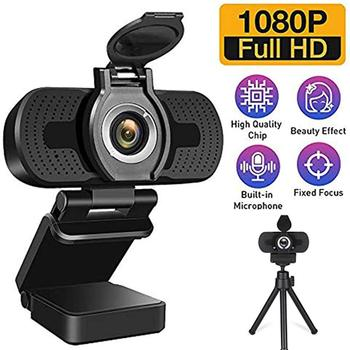 1080P HD Computer Camera Webcam With Cover Noise Reduction Microphone Cameras For Live Broadcast Video Calling Conference Work