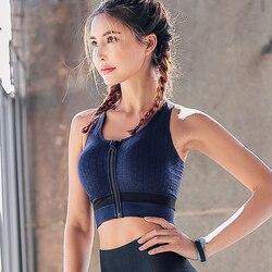 Women Zipper Push Up Sports Bras,Plus Size XL Breathable Sports Tops,Fitness Gym Yoga Sports Bra Top fitness bra push up