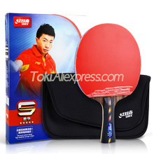 DHS 5 Star CARBON Table Tennis Racket 5002C with Bag Case DHS Hurricane 3 Rubber Original DHS 5-STAR Ping Pong Bat Set
