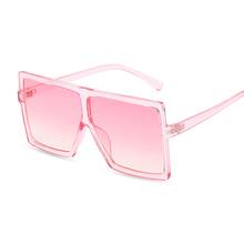 Übergroßen Shades Sonnenbrille Frauen Rosa Fashion Square Gläser Großen Rahmen Sonnenbrille Weiblich Vintage Retro Unisex Oculos Feminino cheap SHOPAHOLIC CN (Herkunft) WOMEN Acrylsauer Erwachsene Kunststoff MIRROR Anti-reflektierende UV400 65mm 66mm
