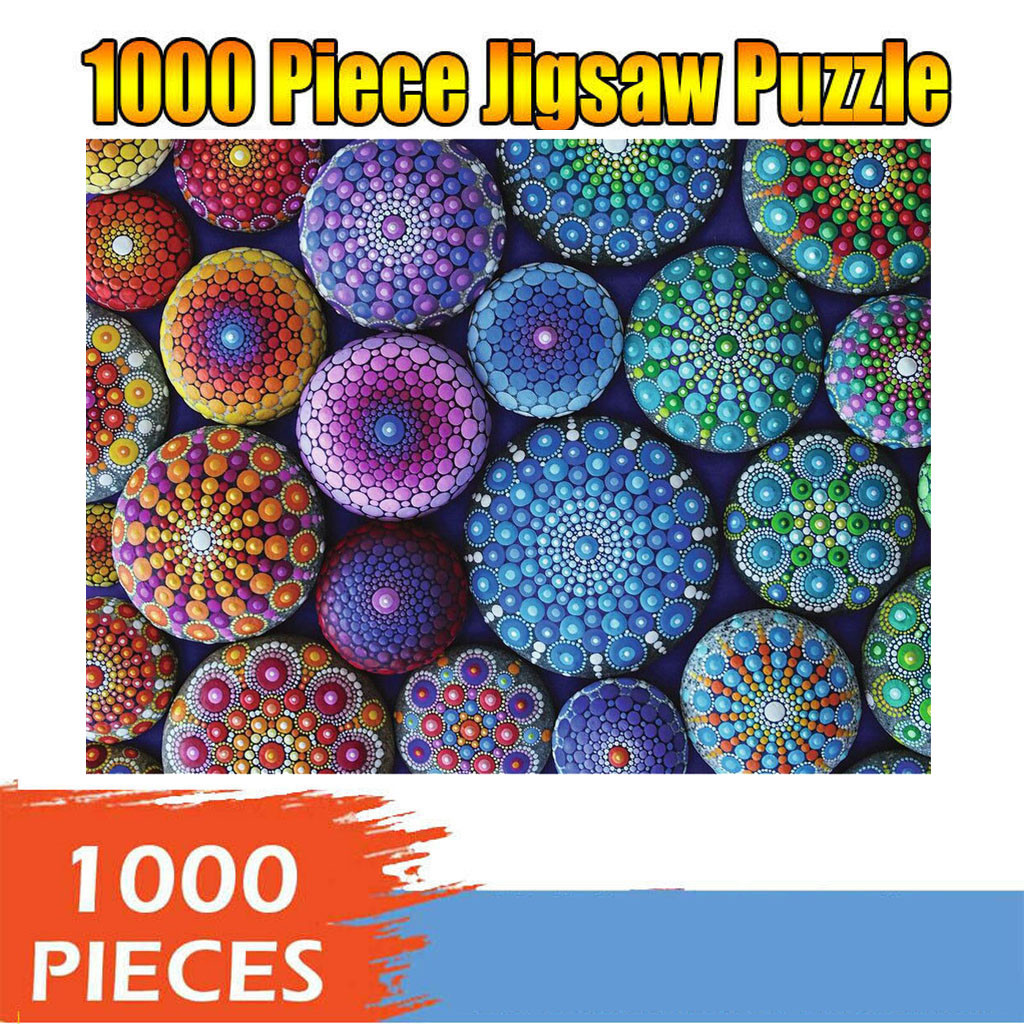 1000 Pieces Jigsaw Puzzle Children's Adult Wooden Puzzle Intelligence Educational Game Toys kids Jigsaw Puzzle toys Stickers 19
