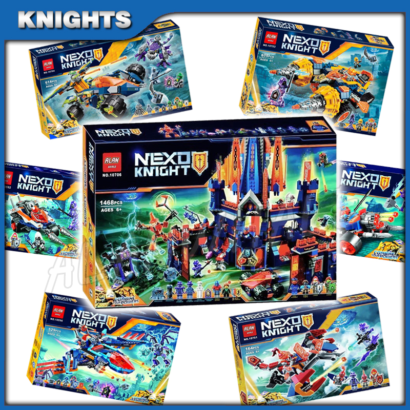 7types Empire Knights Justice Kingdom Knighton Castle Base Chariot Model Building Blocks Children Toy Nexus Compatible With Lago
