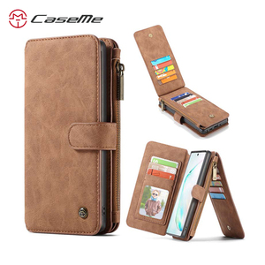 Image 1 - For Samsung Galaxy Note 10 Wallet Case Caseme Vintage Leather Flip Book Style Mobile Phone Bags For Galaxy Note10 plus Coque