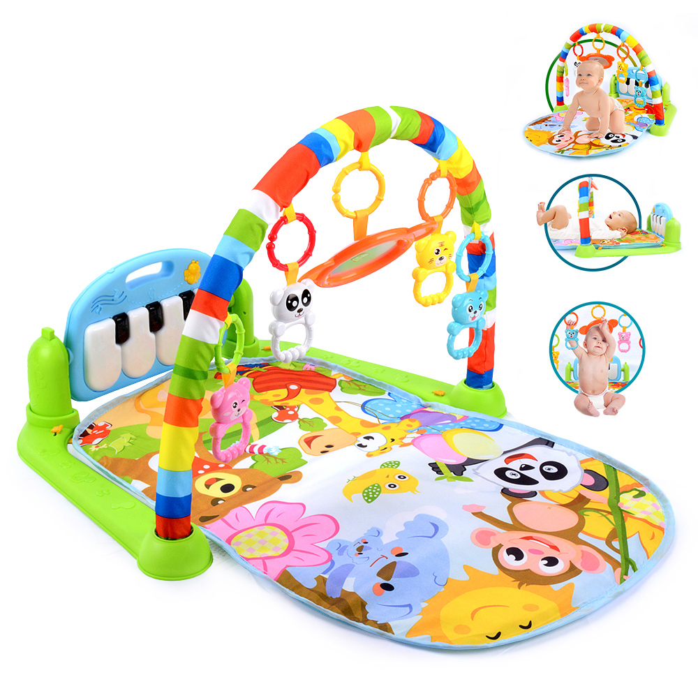 Baby Play Music Mat Kid Rug Crawling Play Mat Game Develop Mat With Piano Keyboard Infant Rug Early Education Rack Toys