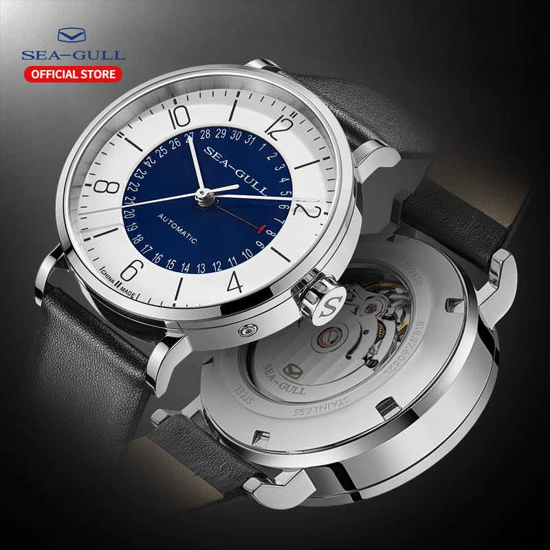 Seagull Men And Women Watch Fashion Personality Mechanical Watch Calendar Waterproof Leather Couple Watch 819.97.6052