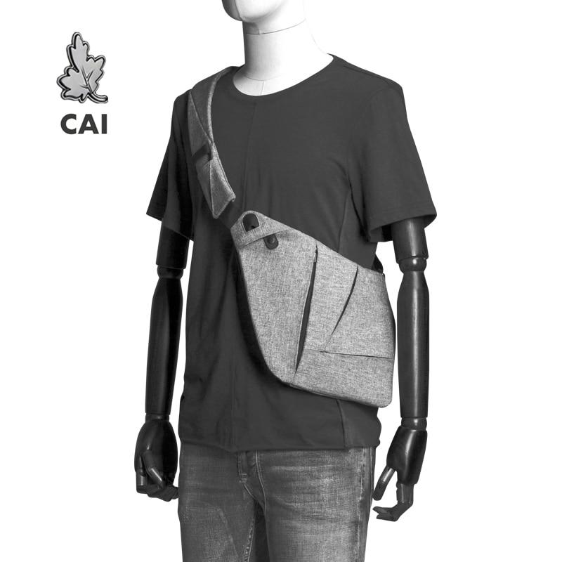 CAI Fashion Cool Chest Bag Men Casual Messenger Anti-Theft Waistbag Fanny Pack Waterproof Women Shoulder Sling Bags Belt Bag