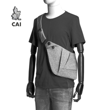 CAI Fashion Cool Chest Bag Men Casual Messenger Anti-Theft Waistbag Fanny Pack Waterproof Women Shoulder Sling Bags belt bag leather crossbody bags dual use men chest bag casual messenger bag fashion men shoulder travel bag anti theft back pack