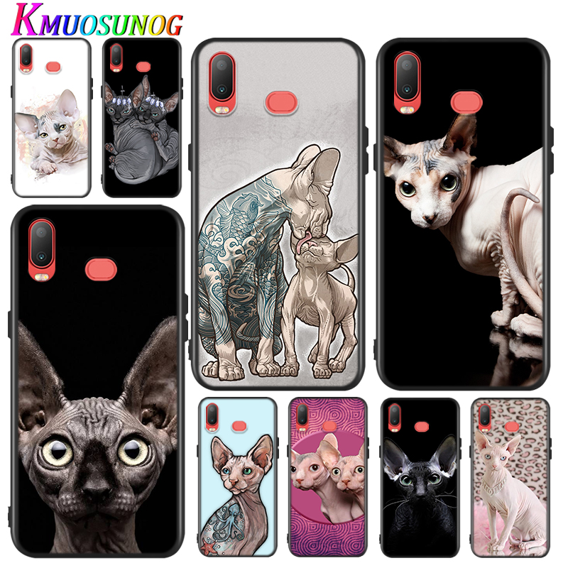 Silicone Cover Tattoo Sphinx Cat for Samsung Galaxy A9 A8 A7 A6 A6S A8S Plus A5 A3 Star 2018 2017 2016 Phone Case